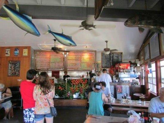 Inside area picture of paia fish market paia tripadvisor for Fish market maui