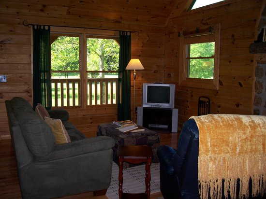 Telliquah Falls Log Cabins: Creekside Melodies - Living Room