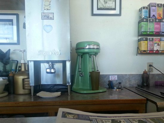Rosie's Restaurant: We haven't seen a milk shake maker like this since early years!
