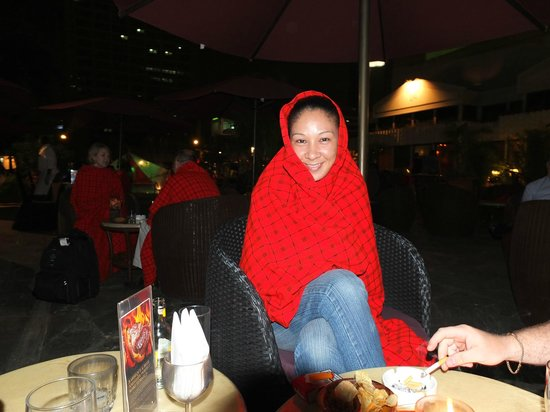 Makuti Bar: wrapped guest