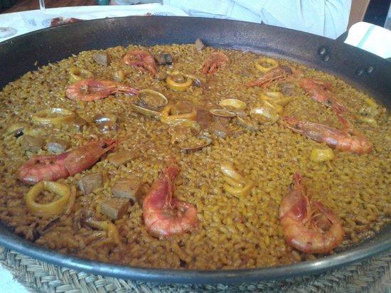 Alfonso Restaurante: arroz y marisco al sarmiento con gamba roja