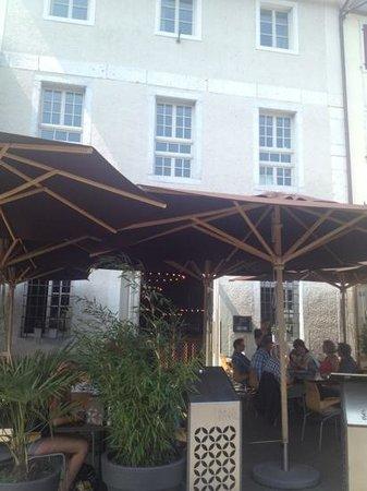Restaurant Salzhaus: terraza