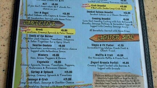 Menu picture of mulligan 39 s beach house bar grill for Fish river grill menu
