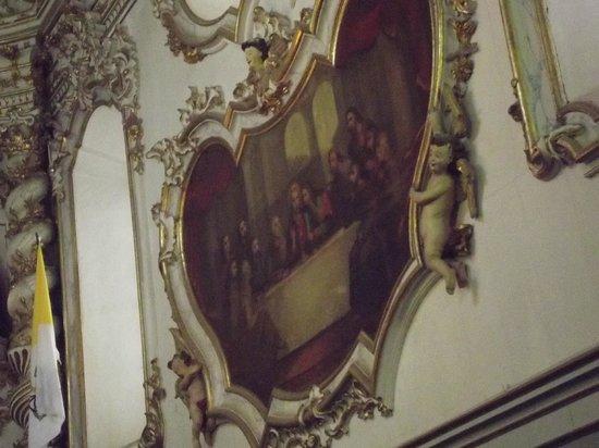 Igreja de São Francisco de Assis: pintura da santa ceia