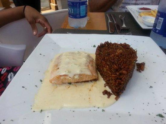 Citrus Restaurant: Salmon and calamari rice