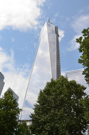 The National 9/11 Memorial & Museum: WTC w/ Survivors Tree in lower right