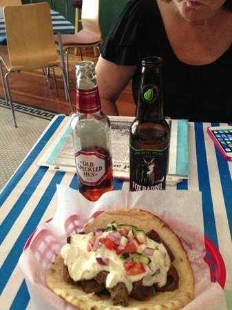 Colfax Greek Bistro: fabulous gyro and great selection of eclectic beer