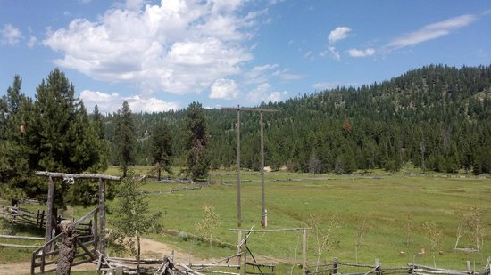 4D Longhorn Guest Ranch : The view from the Main 4D Lodge