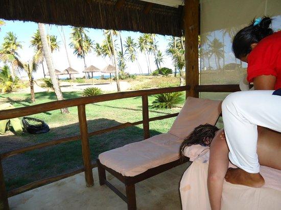 Iberostar Praia do Forte: Massagem ao ar livre