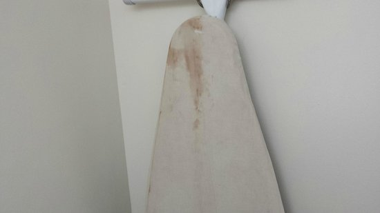 Howard Johnson Express Inn - Sandusky Amusement Park: Stained ironing board.