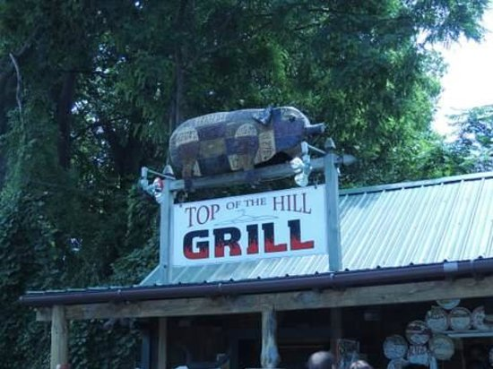 Top of the Hill Grill: Storefront Sign