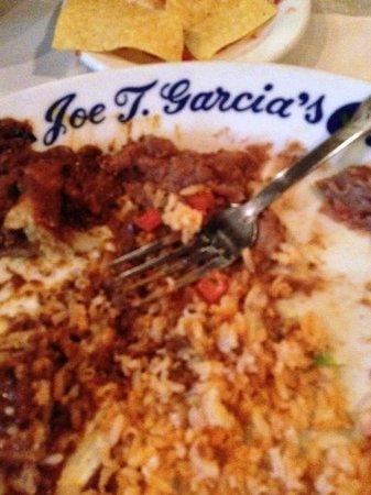 Joe T Garcia's Mexican Restaurant: Rice, beans, ahhhhh.