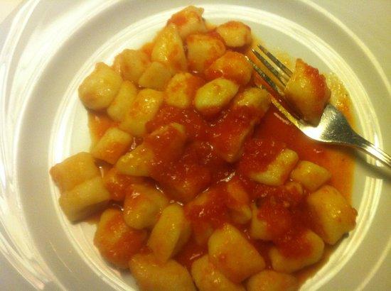 Hotel Condor: daily pasta (gnochi in light tomato sauce)