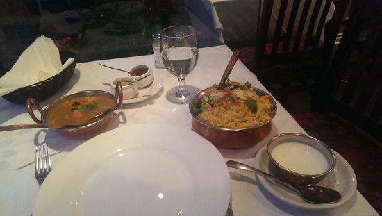 Utsav: biryani and chicken masala, terrific.