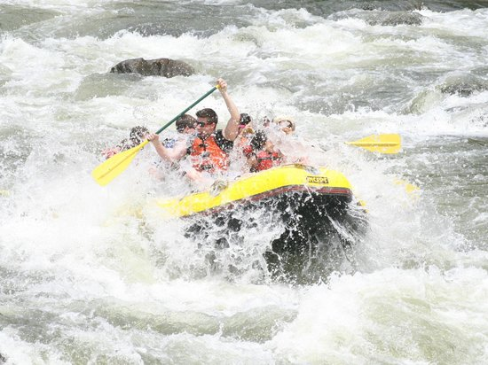 Whitewater Rafting, LLC: One of the rapids along the way.