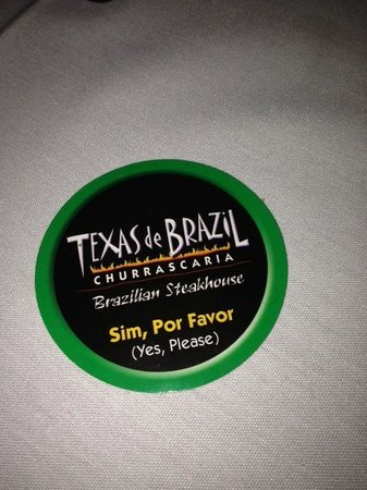 Texas de Brazil: Turn the disc to watch the meat parade