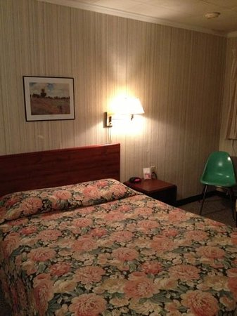 Maples Motel: queen bed motel room #7