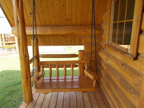 KOA Hinton/Jasper : Swing on our porch