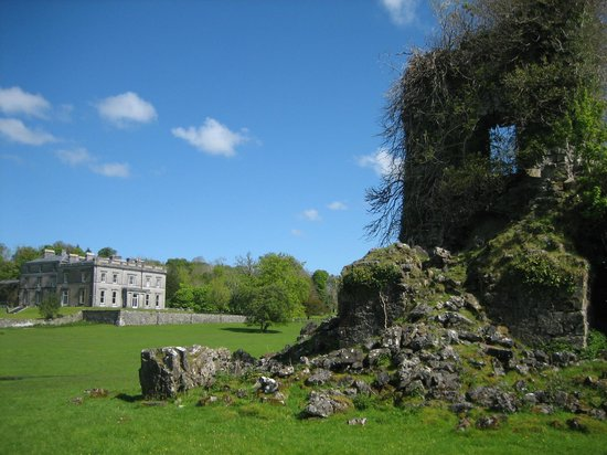 Temple House: View from the ruins back towards the house