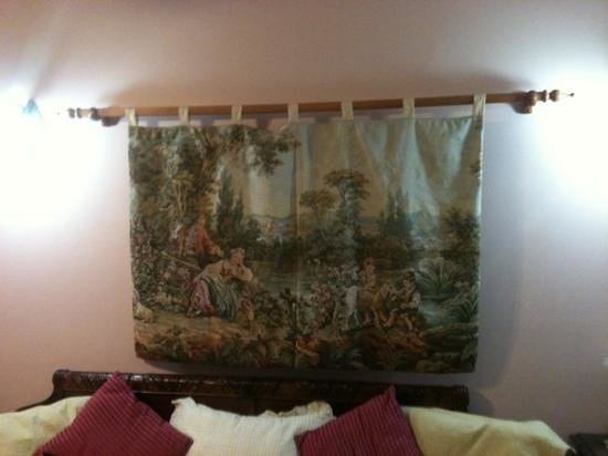 Sweetwater Branch Inn: tapestry in my room