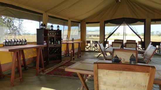 Olakira Camp, Asilia Africa: the spacious dining tent