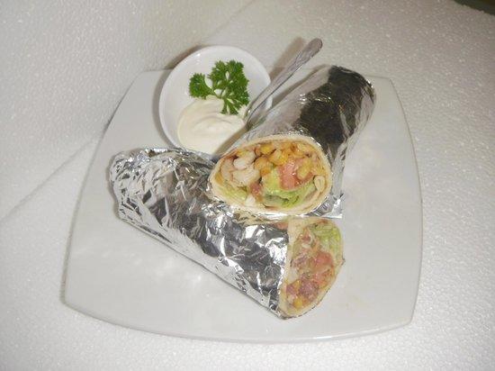 Don Anibal Restaurante Col-Mex : Wraps de Pollo con Maiz y Tocineta(variedad)