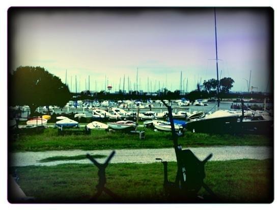 Hefner Lake & Park: more of the boat marina