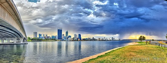 Swan River and Perth city