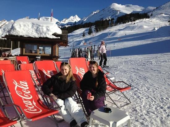 La Clusaz Ski Resort: lunch on the slopes of La Clusaz