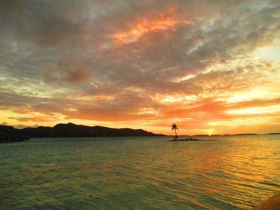 Four Seasons Resort Bora Bora: view from the beach