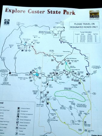 Custer State Park Campgrounds: Map of Custer State Park