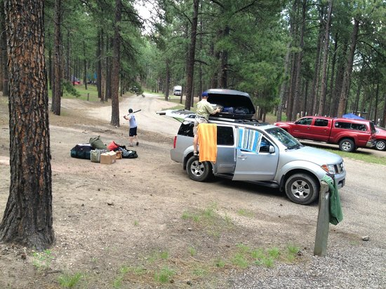 Custer State Park Campgrounds: Ample parking at each site - this is Upper Loop in Center Lake Campground