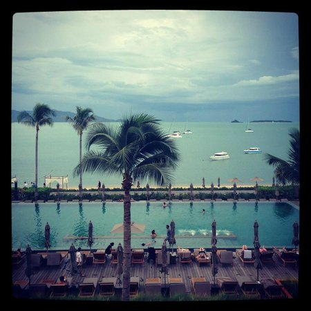 Hansar Samui Resort: View from Level 3 room