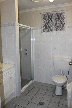 Admiral Nelson Motor Inn: Shower area.