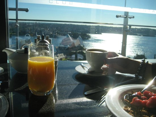 InterContinental Sydney: Breakfast with an unsurpassed view!
