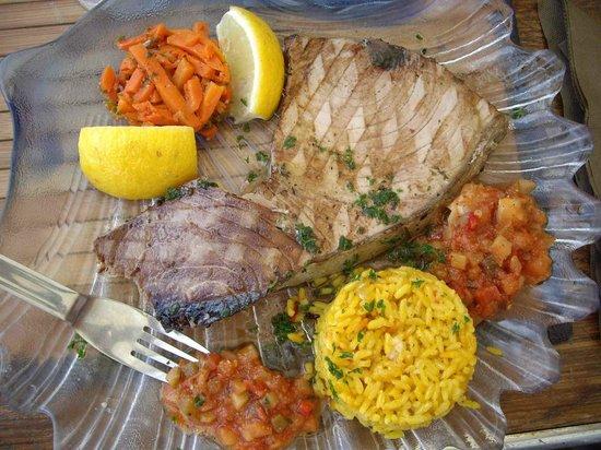 Brasserie Le Belvédère : spada grigliato con riso e verdure