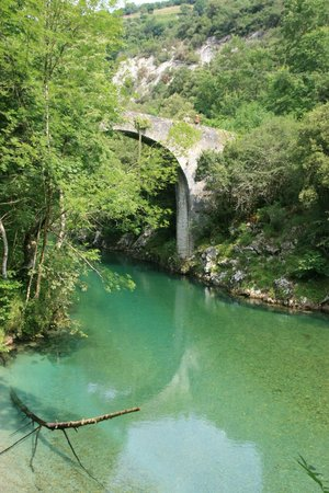 Penamellera Baja Municipality, Spain: A roman bridge in the river of Panes