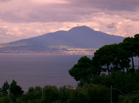 Hotel Johanna Park : view of bay of naples and vesuvius from our room