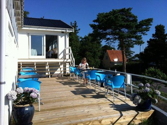 Sandkaas Badehotel: Morgenmadsterrassen