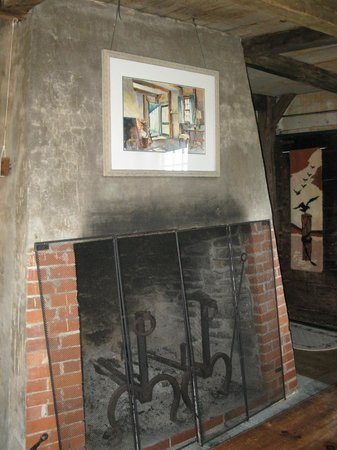 Inn at Whale Cove Cottages: the massive Fireplace