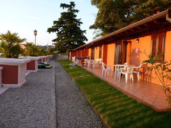 Villa Garuti: view of apartments across the front 6am