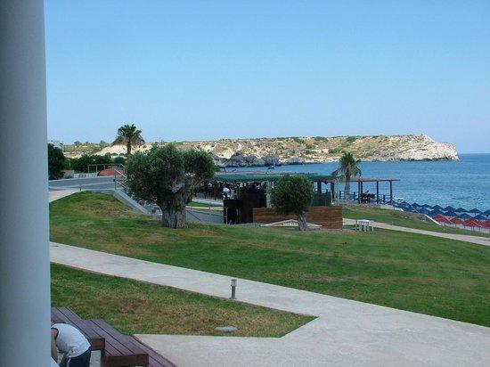 Kolymbia Beach Hotel: Veduta dalla sala ristorazione
