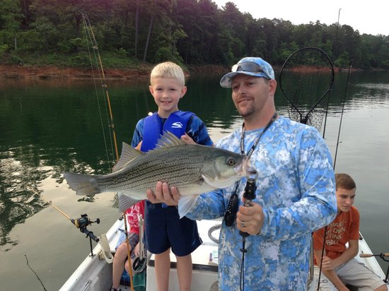 East Ellijay, GA: Lake and Stream Guide Service helped our family catch some big ones