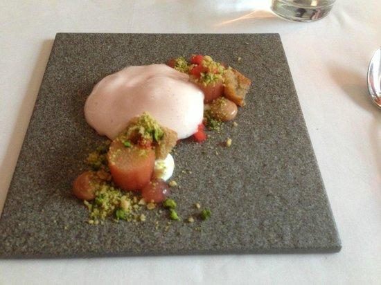 Demo: Rhubarb and Almond Cake with Vanilla Ice Cream