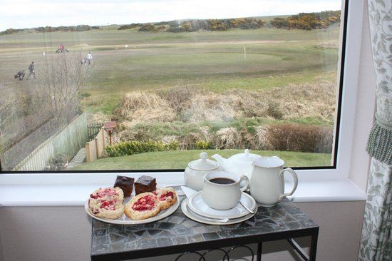The Whins: afternoon tea in the TV lounge