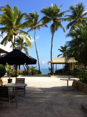"The Palms at Pelican Cove: Between the band stand and the ""outdoor"" dining"