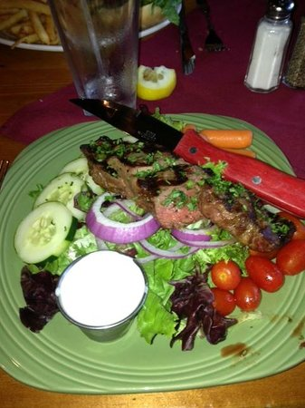 One Mile West: House salad with sirloin