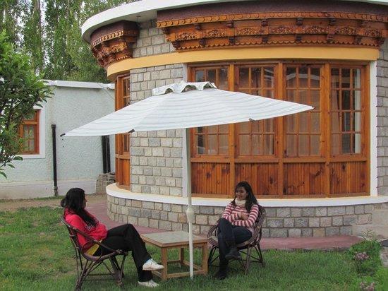 Royal Heritage Resort: sitting outside the cottage