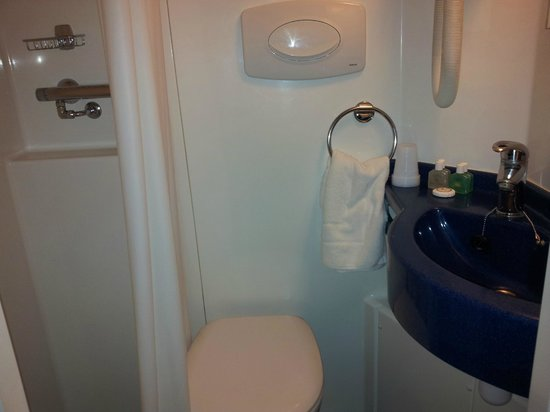 Trebovir Hotel : The compact bathroom
