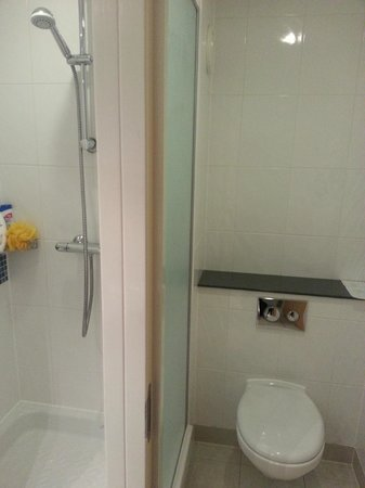 Premier Inn Ayr A77/Racecourse Hotel: Shower (Yippeee!!!) and toilet